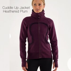 Lululemon Cuddle Up Heathered Plum Jacket